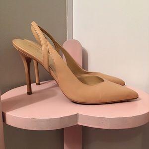 Michael Kors tan nude color high heels